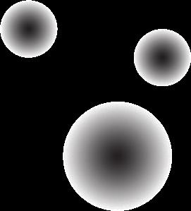 Three glowing black orbs; the logo for Cicada.